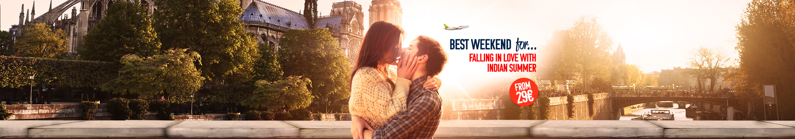 Fall in love with the Indian summer in one of the top European cities. Just book your ticket now from 29 EUR and spend the best part of the year travelling.