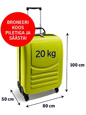 Registreeritud Pagas Pagasieeskirjad Airbaltic