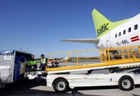 loading an airBaltic plane