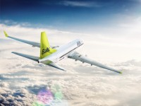 airBaltic above the sky. Boeing HD image
